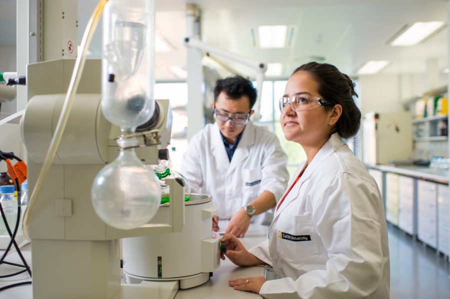 Curtin University Malaysia - Expectations for Academic Performance - two academicians doing Research in the Science Lab