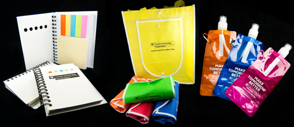 Curtin University Malaysia Miri Sarawak Bookshop merchandises